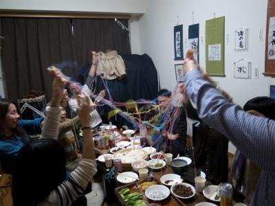 【結果報告】12/19 オトナ女子の集う書道教室の手巻寿司クリスマスパーティー!