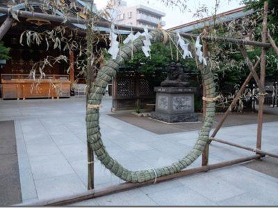 湯島天神 夏越大祓(なごしおおはらえ)「茅の輪くぐり」