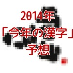 【恒例】2014年 今年の漢字予想 決定「嘘」