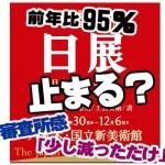 第2回 新日展「応募展数は微減」→書500点 5% 600万円ダウン